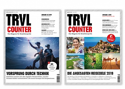Covergestaltung, TRVL Counter Magazin